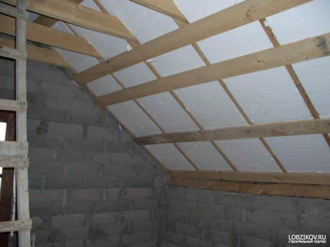 Утеплить потолок балкона своими руками 38