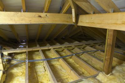 Минеральная вата - утеплитель потолка