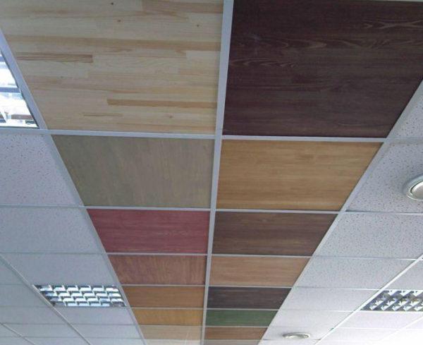 Варианты кассетных подвесных потолков