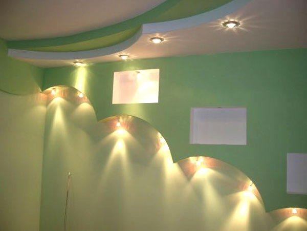 Монтаж подвесного потолка из гипсокартона: двухуровневый потолок и комбинация с натяжным полотном