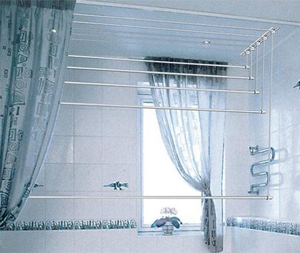 Потолочная сушилка в ванной