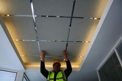 Потолок двухуровневый своими руками из гипсокартона и системы Armstrong