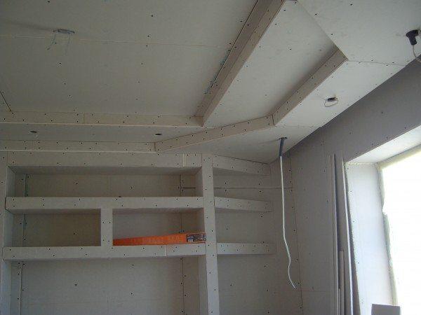 виды гипсокартонных потолков