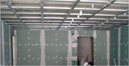 Каркасная система одноуровневого гипсокартонного потолка