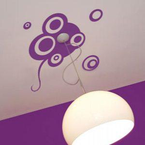 Наклейки под потолочный светильник