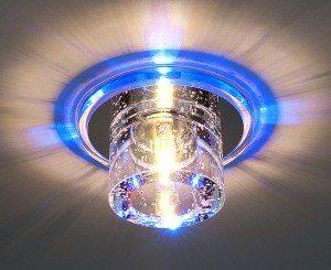 Врезной точечный светильник с абажуром