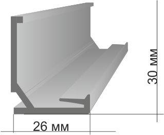 Профиль для натяжного потолка имеет высоту всего 3см.