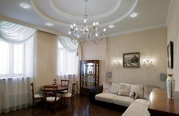 Высокие потолки в квартирах новостроек позволят реализовать более оригинальные в плане дизайна варианты оформления помещений